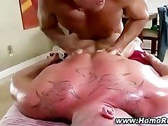 Dextrous gay masseuse slowly turns dude