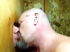 Some guys need kissing: hard pussy spanking sucks cock and makes out in gloryhole
