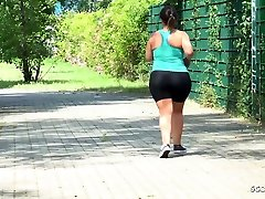 GERMAN SCOUT - BBW FAT xxx romantic short video TALK TO FUCK AT STREET CASTING