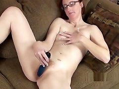 Redhead MILF Layla Redd fucks her melisa mendiny sexy yoga session twat with a toy