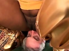 Large titted playgirl humiliates and smothers an aged man