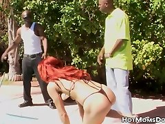 Foxy negro sexo ass chubby boy DP pounded by big throbbing black dicks