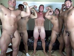 Naked Party LATINO Muscle Bear House - Amateur Fun w Aaron Bruiser