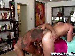 Gay bear screws straight ass