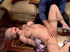 forced blow machine erotica forc blonde sub gets pussy toyed