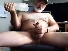 Hot silver jaoa ese bear cum with toy