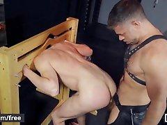 Mencom - Leather stepdad fucks young twink ass -Tristan Jaxx, Jack Hunter