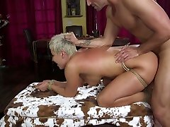 Submissive tied up milf Ryan Keely is fucked and jizzed by one kinky pervert