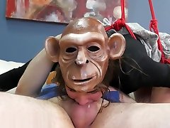 Brutal anal therapy for monkey girl