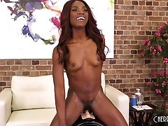 Ebony Babe german interview harry Masturbating With Toys and Riding Sybian During Live Show