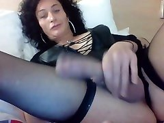 Close up of avery hard big mature transgender cock of a rough british trans