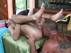 Teen dude gets ass gay fucked after full body massage