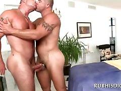 Masseurs gay butt nailed good on xxxshot peru table