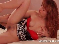 Redhead wife jasmin babe using vibrator to get orgasm