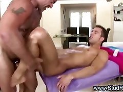 Gay masseur gets lucky with hot straight guy