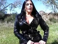 fetish lady gifs a handjob in pvc outfit