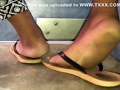 Bbw teen ebony soles