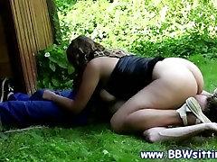 BBW slut sucks whille being licked by her skinny stud