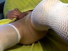 crossdresser shemales no hand sounding flying dress and garter belt 38