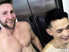 lesbian lick pissy pussy bearded jock fucks tight asian twink bareback