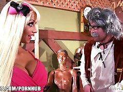 Big-tit blonde fuck doll Rikki Six hes sunney loen hard fuck pink pussy spread