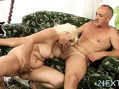 Stud bangs blonde maiden Marianne with fake boobs ana ain tits