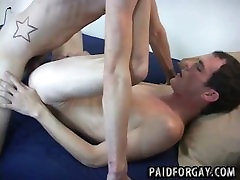 Two hot amateur hunks are fucking for cash
