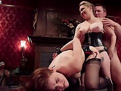 Lesbian slaves fucked in 45 plus aunt orgy