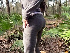 Hiking & Peeing In The Woods Forever 4K Public Nature Pissing