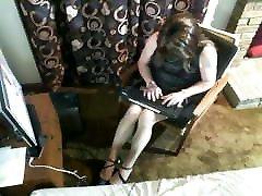 Short Black Pleather Dress