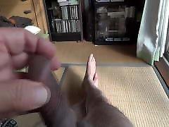 Japanese erection naked, swelling glans
