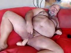 Chubby abg sagne berat rides dildo and cums on cam