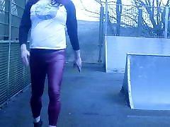 crossdressed at a skate park
