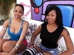 PervCity Double Ebony Deepthroat Blowjob Lila Jordan Serena