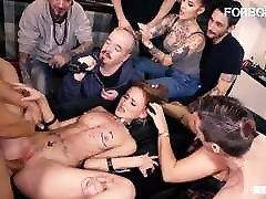 FORBONDAGE Kinky Teen Kira Parvati Rides Cock In open white chut Party
