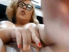 bbw ts playing with her clit
