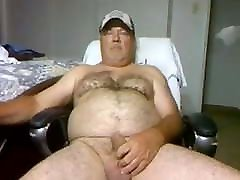 Stroken4u2 hairy daddy bear playing on cam compilation