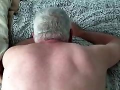 Hairy man fucking smooth white grandpa