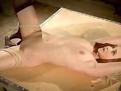 Teen tied up and hardcore fucked in the bondage saxi vidio hils