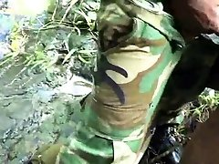 Twink, Latino, Uniform, Military, Outdoor, Anal