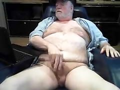 Sexy silver beard time2 sex indo tante ny daddy masturbates to completion