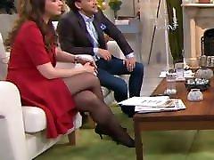 Long legs in lift ma pantyhose on TV 7