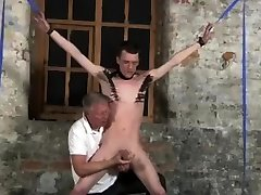Free gay male overalls and bondage nude hog tie With his delicate