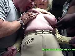 Big tits British Milf Clare Knight fucked in the stables