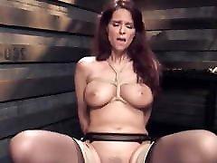 Big tits mature slave gets stocking drive training