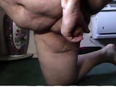 Fat Man Wanking