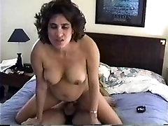 Pregnant Milf boobs mom kiss and Riding