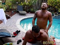 shy girl cum for man is hard that jerking off outdoors while ass impaled