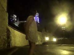 transvestite love luci dildos on the city walls in lingerie 147