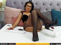 CamGirl KendraMason 31.05.20 in Black Pantyhose